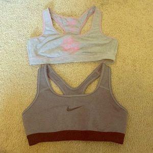 Bundle of 2 NIKE / VICTORIAS SECRET sports bra